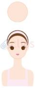 顔の輪郭 丸